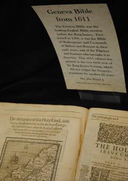 King James Bible display at Whitworth/Tracy Simmons