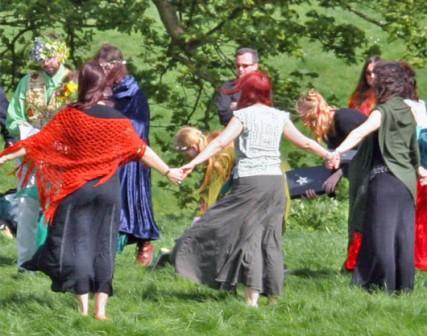 Pagan handfasting ceremony at Avebury