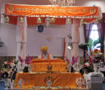 Worship service inside the Sikh Temple of Spokane