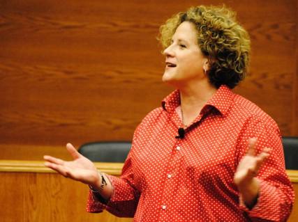 Charlene Strong speaks at the Gonzaga University Law School