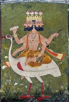 Brahma is the Hindu god (deva) of creation