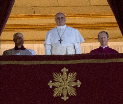 Newly elected Pope Francis appears on the central balcony of St. Peter?s Basilica on Wednesday (March 13) in Vatican City. Argentinian Cardinal Jorge Mario Bergoglio was elected as the 266th Pontiff and will lead the world?s 1.2 billion Catholics.