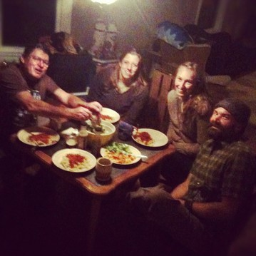 The Green House residents dine together.