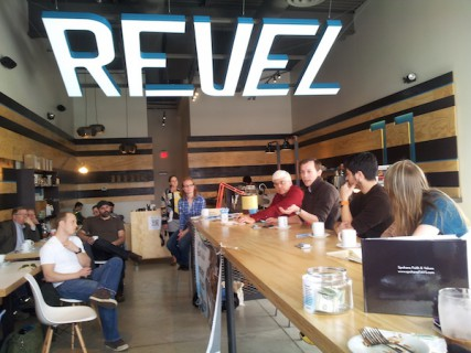 On April 6, at our monthly Coffee Talk, we gathered at Revel 77 Coffee to discuss the concept of spiritual community.