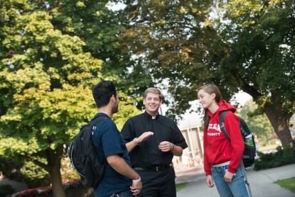 The Rev. C. Hightower speaks to students at Gonzaga.