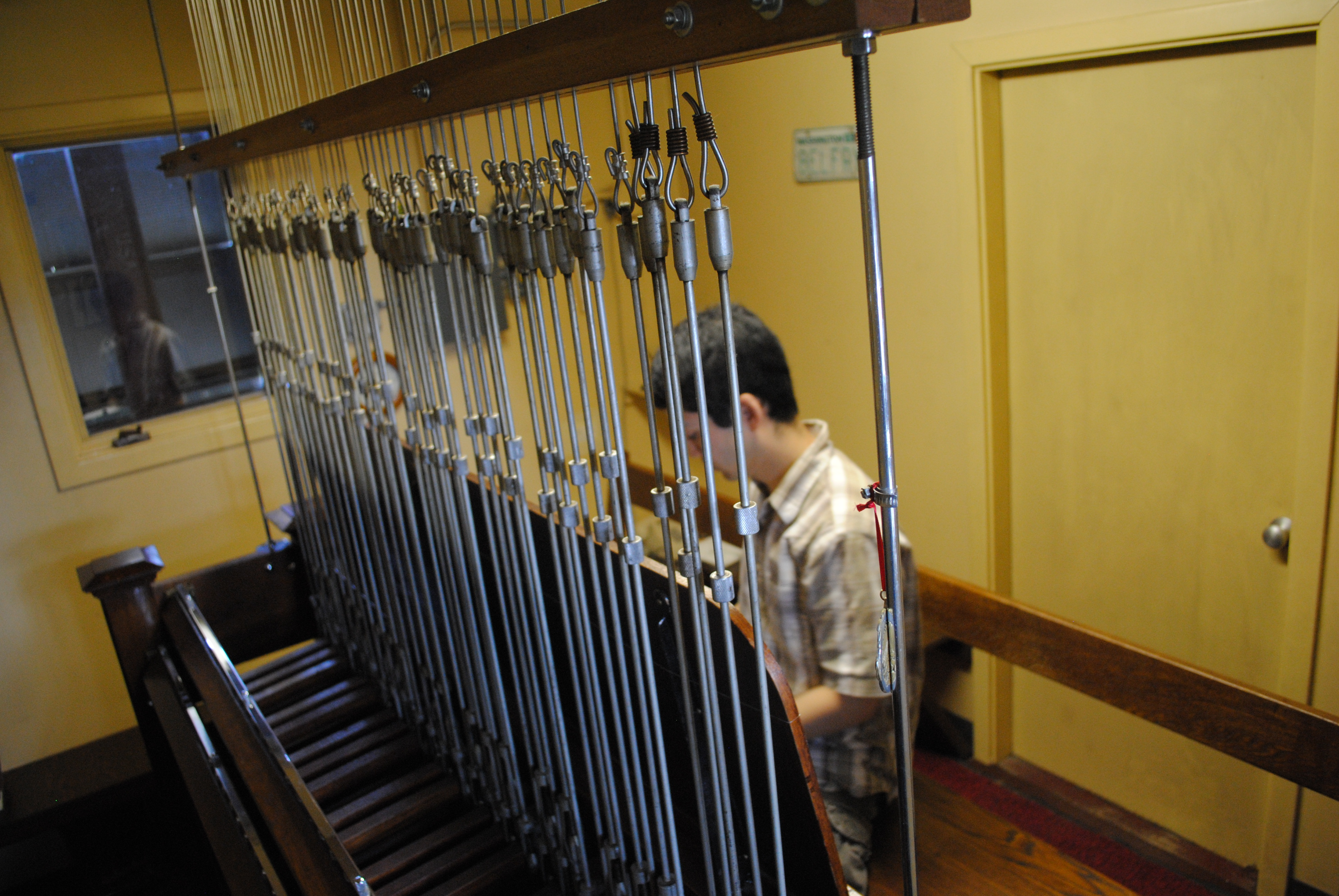 Wesley Arai plays the carillon at St. John's Cathedral in 2013/Tracy Simmons - SpokaneFAVS