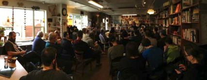 Photo of March Coffee Talk, held at Indaba.