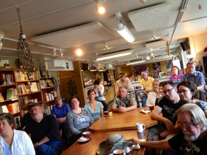 About 20 people attended our August Coffee Talk, which was held Aug. 3 at Indaba Coffee.