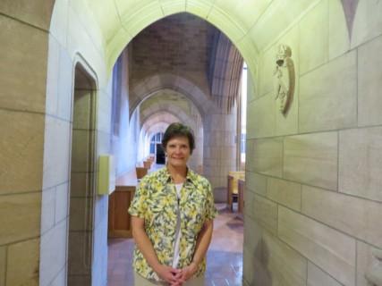 The Rev. Elaine Breckenridge leads a Celtic workshop at St. John's Cathedral
