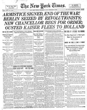 NYTimes-Page1-11-11-1918