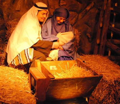 Actors portray the manger scene at Journey to Bethlehem/SpokaneFAVS File photo