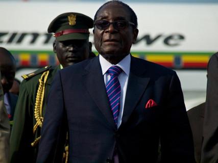 President Robert Mugabe of Zimbabwe on July 8, 2011. Photo by Gregg Carlstrom, via Flickr.