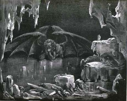"""The ninth circle of hell, from Dante's """"Inferno."""" By. Gustav Dore, via Wikipedia Commons"""