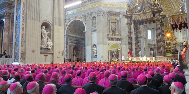 Sparring continues as Catholic bishops prepare synod's final report