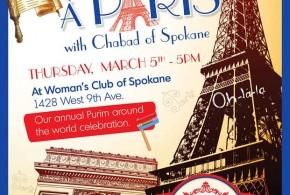 "Spokane Chabad to celebrate ""Purim in Paris"""