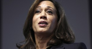 (RNS1-march26) California Attorney General Kamala Harris speaks at the Facebook headquarters in Menlo Park, Calif., on February 10, 2015. Photo courtesy of REUTERS/Robert Galbraith