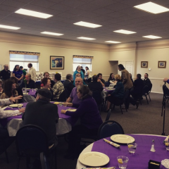 Guests dined on a vegetarian entree at Central Seventh-day Adventist Church/Tracy Simmons - SpokaneFAVS