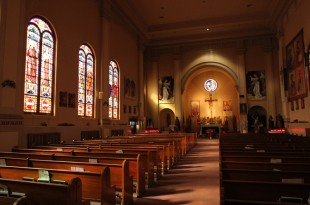 (RNS1-may11) The interior of St. Roch Church in the Staten Island borough of New York is seen between Sunday morning Masses on Nov. 2, 2014. RNS photo by Gregory A. Shemitz