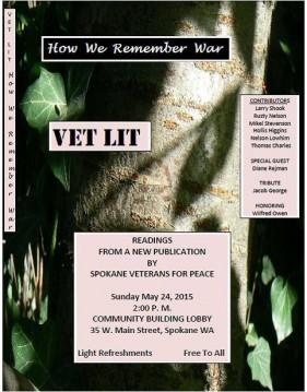 "Veterans for Peace present ""Vet Lit: How We Remember War"" @ Community Building"