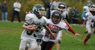At the youth level, the long-term effects of football hits aren't known. Brian J. McDermott/flickr, CC BY