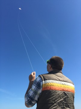 Kyle Franklin with his new kite/Contributed