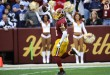 Washington Redskins wide receiver DeSean Jackson celebrates scoring a touchdown against the Dallas Cowboys during the first half at FedEx Field in Landover, Md., on Dec. 28, 2014. Photo by Brad Mills-USA TODAY Sports, courtesy of Reuters