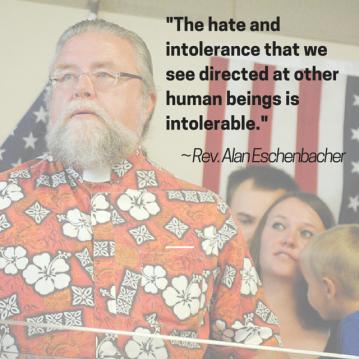 The Rev. Alan Eschenbacher on intolerance/Photo Illustration by Tracy Simmons - SpokaneFAVS