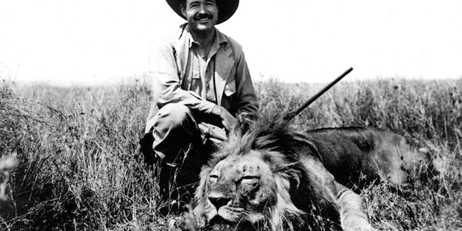 Ernest Hemingway on Safari in 1934/Wikipedia