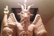 The Satanic Temple's template for a statue of Baphomet is pictured in this undated handout photo obtained by Reuters June 27, 2014. REUTERS/The Satanic Temple/Handout