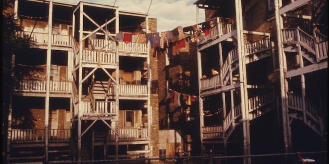 Back porches of inner city housing/Danny Lyon, 1942