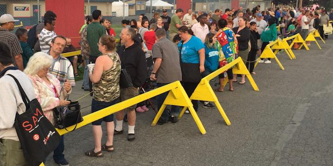 People line up for Pathways to Health free clinic in Spokane/Facebook photo