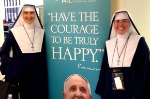 Mother Kathryn Joseph and Sister Paschalina Marie at the Philadelphia airport/Contributed