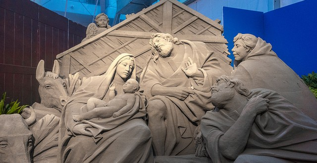 Sand Nativity, Jesolo, Italy - Flickr photo by Christopher_Brown