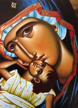 Icon of Mary and Jesus/Photo by Nicholas Damascus